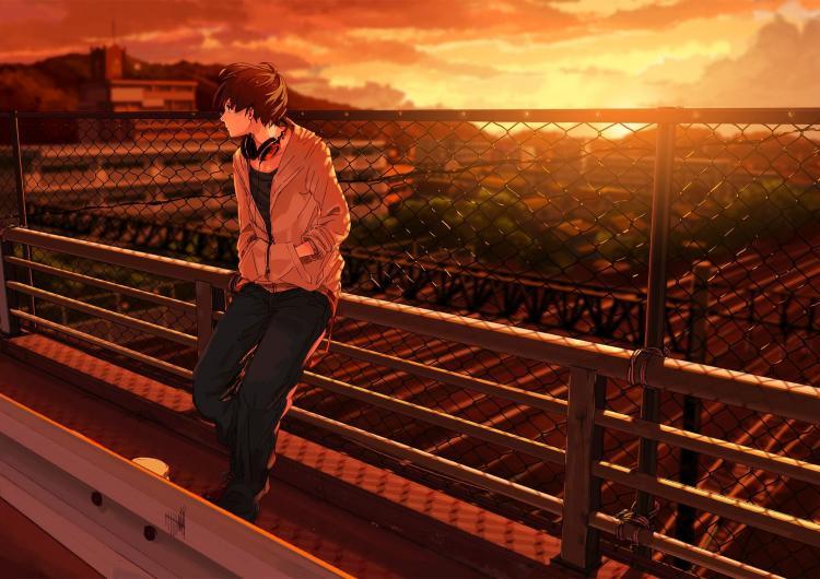 Ảnh Anime Nam Buồn (15)